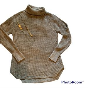 Seven Sisters Waffle Knit Turtleneck Sweater size Small